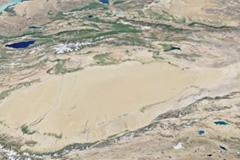 無農薬なつめが収穫されるゴビ砂漠の画像
